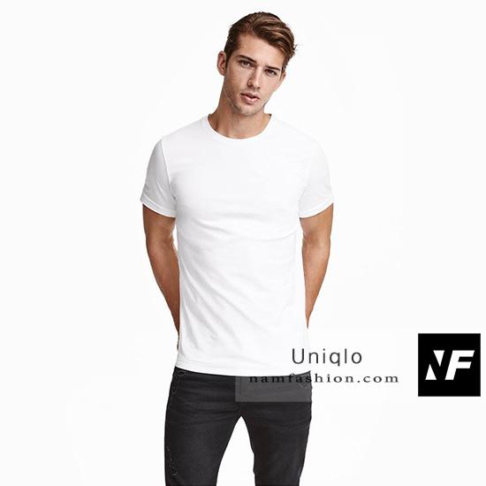 áo Thun Trắng Cổ Tròn Vnxk Hàng Hiệu Uniqlo Thời Trang Xuất Khẩu